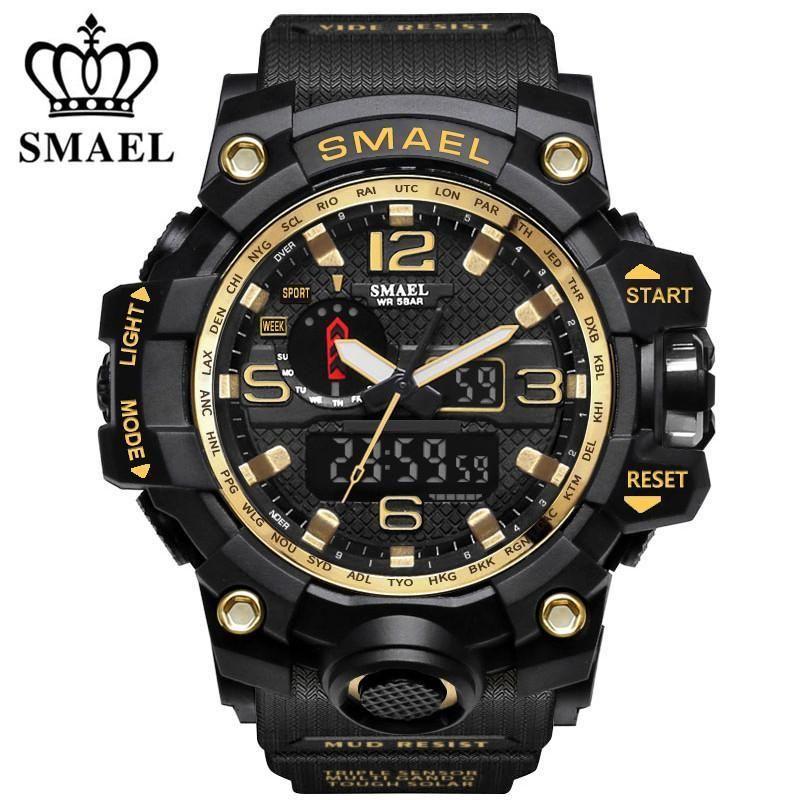 Skmei New Brand Solar Led Outdoor Sports Watches Men Shock Resistant Multifunctional Watch 50m Waterproof Digital Wristwatches Demand Exceeding Supply Watches Digital Watches