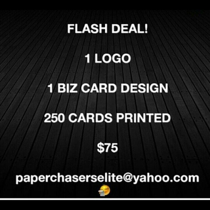 Bundle Deal! 1 Logo 1 Biz Card Design 250 Printed Cards $75 Info - printed invoices