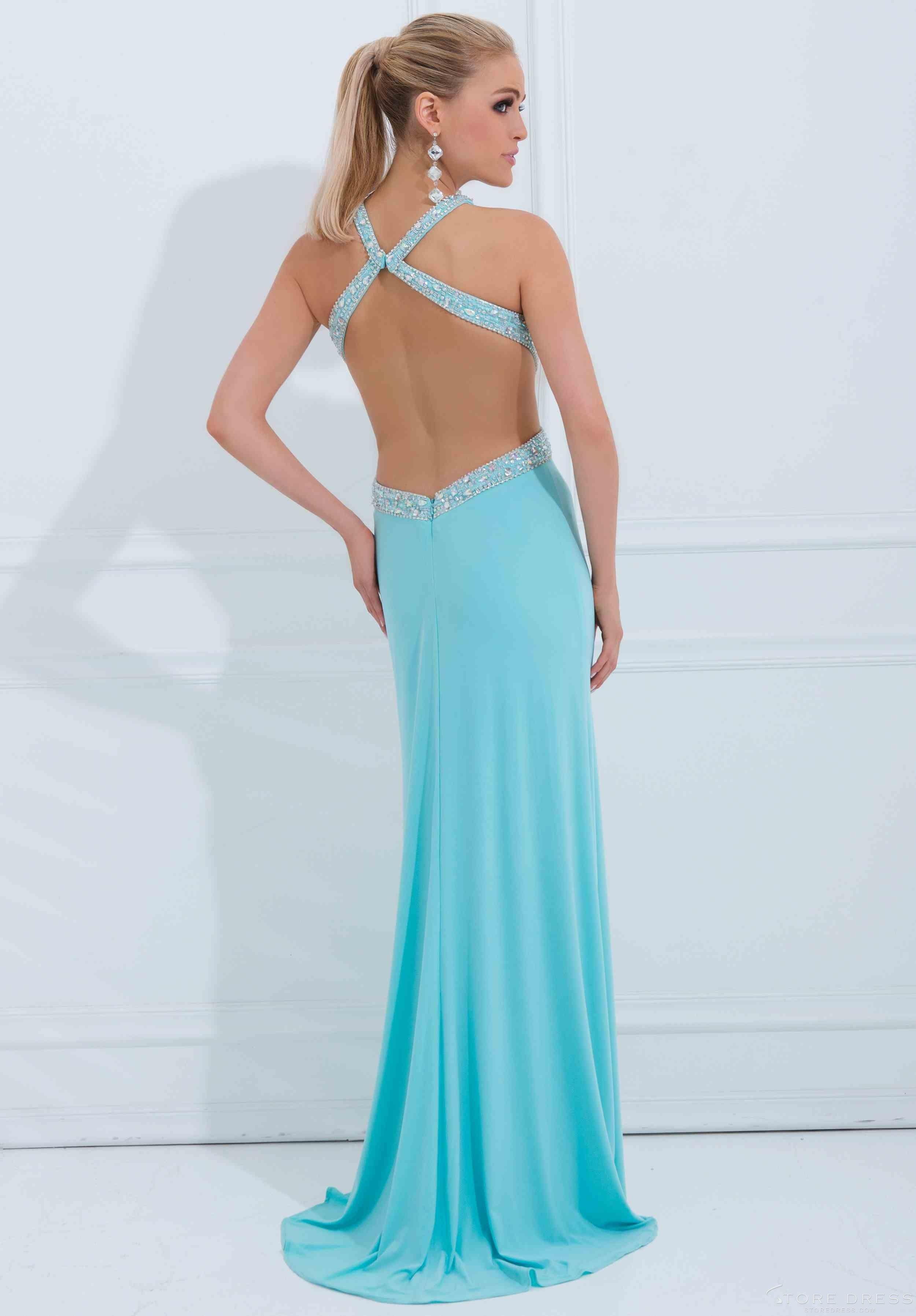 Ladies Sheath / Column Halter Floor-length 2014 New Style Prom Dress ...