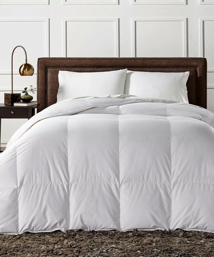Charter Club European White Down Heavy Weight Twin Comforter New