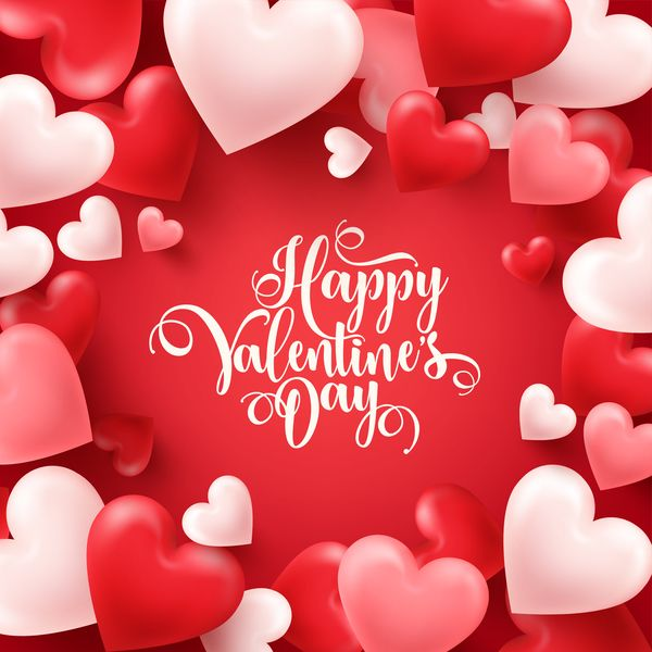 valentine s day heart shape valentine card with red background free