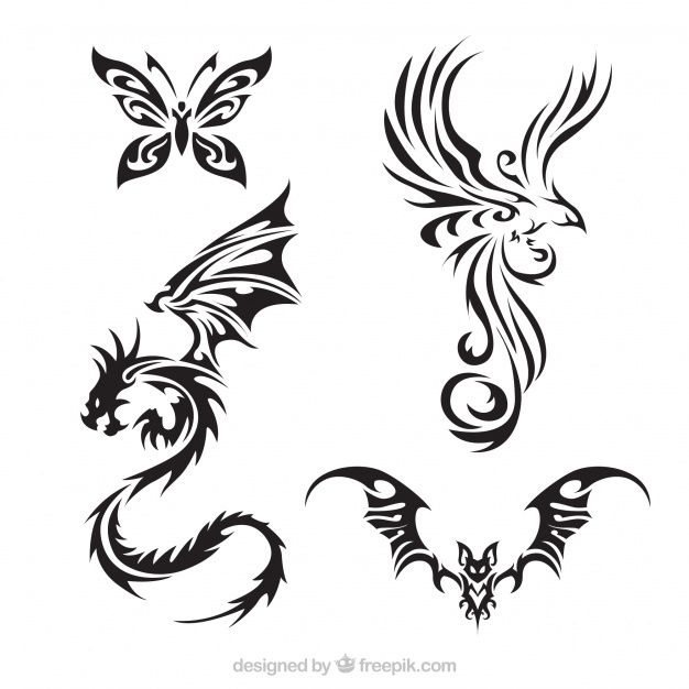 Download Tattoo Creature Pack With Wings for free | Tatuagem ...