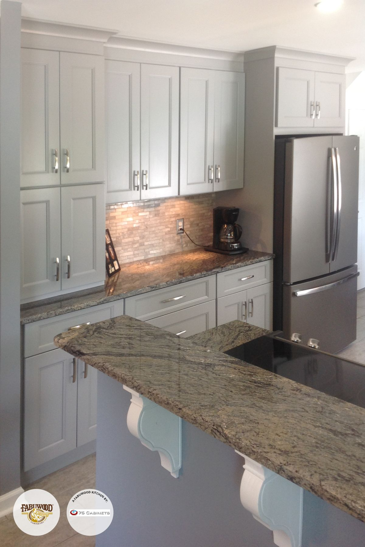 Nexus Slate Fabuwood Cabinets By 75 Cabinets In Warrington Pa Affordable Farmhouse Kitchen Slate Appliances Kitchen Slate Appliances
