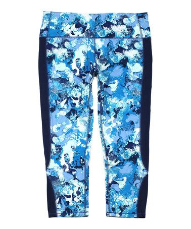 Look what I found on #zulily! Blue Horizon Core Moisture-Wicking Capri Active Pants - Plus Too #zulilyfinds