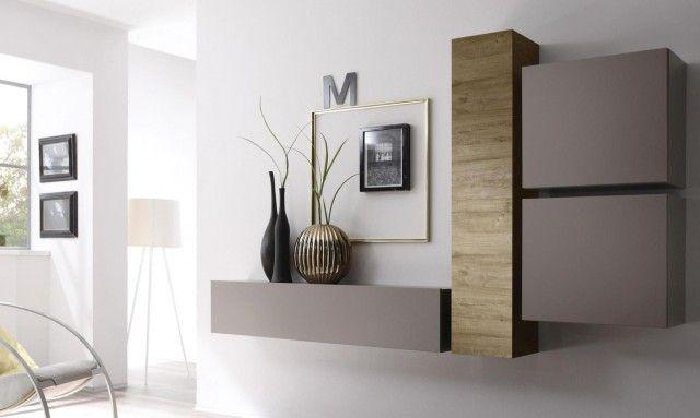 Des Compositions Murales Pas Banales Meuble Suspendu Mobilier De Salon Meuble Rangement