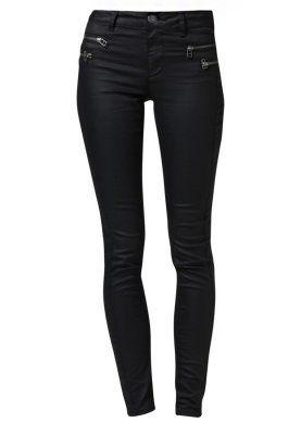 OLIVIA COATED - Slim fit -farkut - musta / I hella need a new pair of black stretch jeans
