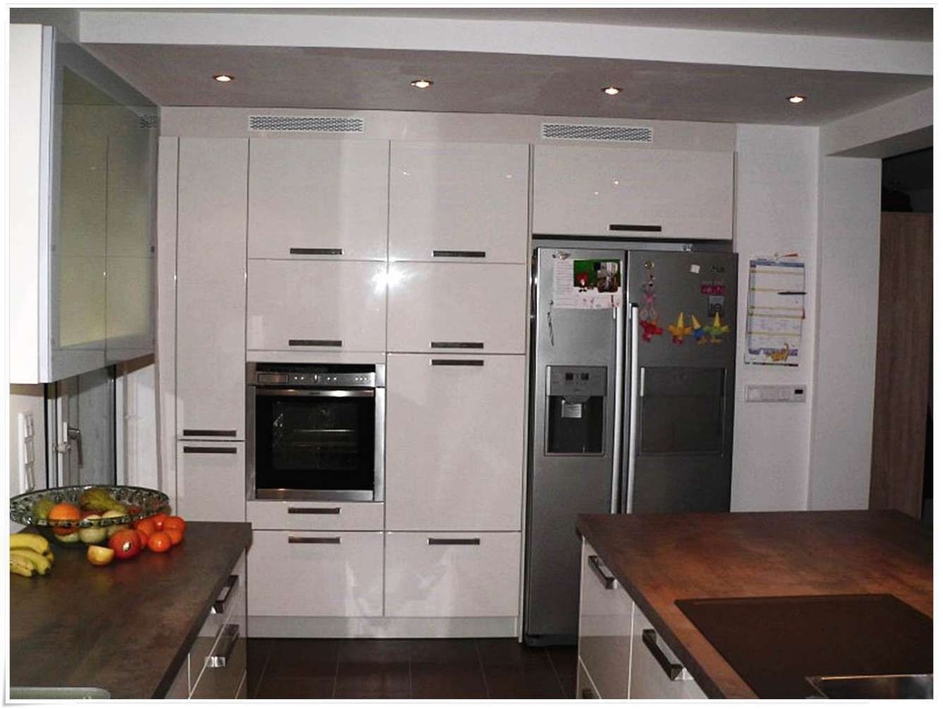Küche Mit Side By Side Kühlschrank Home Ideen
