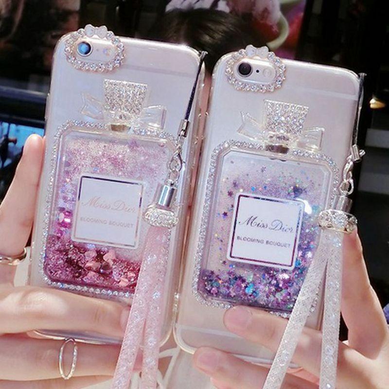 288cae9a61b Dynamic Liquid Quicksand Case For iPhone 6 6S Plus Luxury Rhinestone Cover  Phone Cases For iPhone 7 7 Plus Free Crystal Lanyard   iPhone Covers Online
