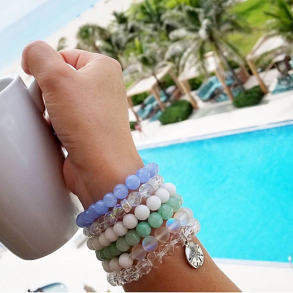 Beautiful beaded stretch stacking bracelets designed by gracefully_beaded