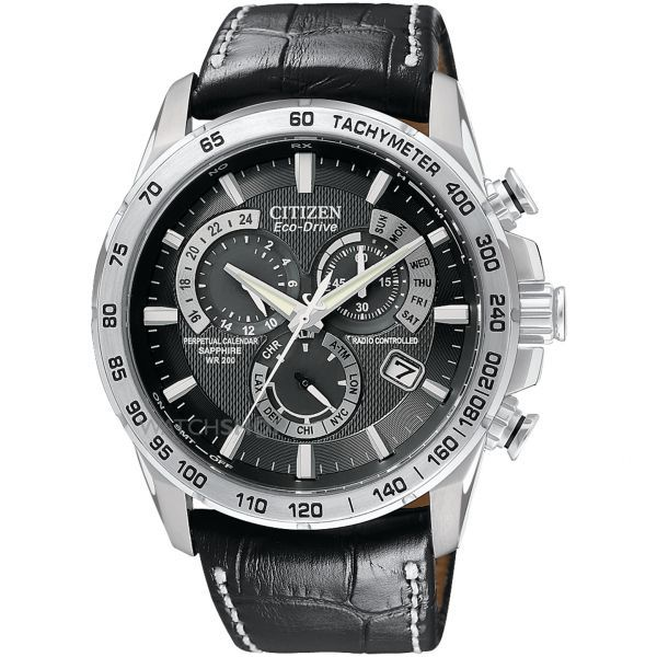 Mens Citizen Chrono Perpetual A-T Alarm Chronograph Radio Controlled  Eco-Drive Watch AT4000-02E 018943e60a