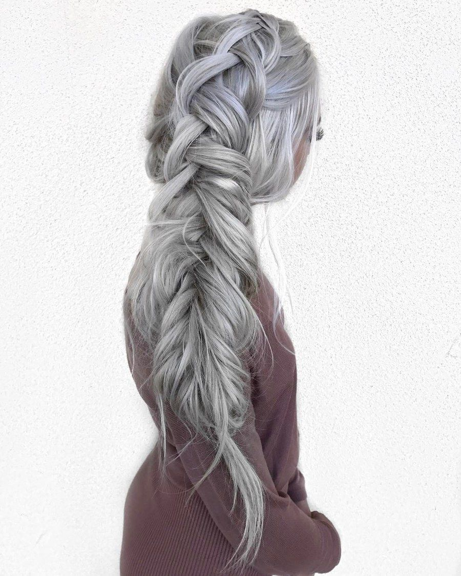 Switch up your braid routine with a side-swept fishtail. (Disclaimer ...