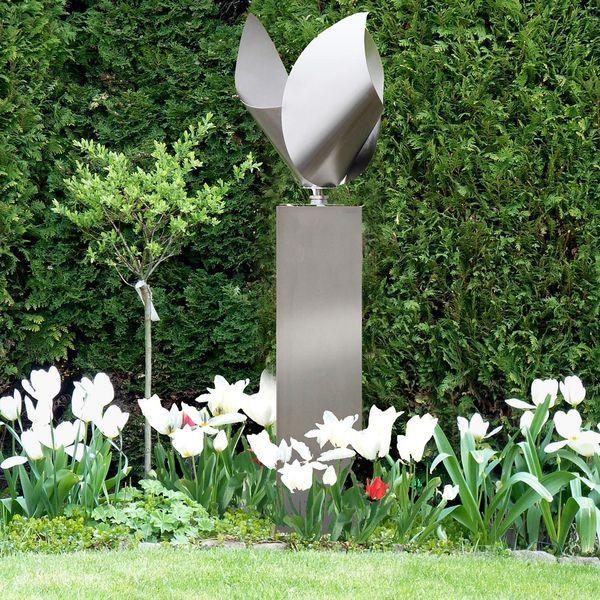 windspiel aus edelstahl f r den garten garten garden art sculpture und garden. Black Bedroom Furniture Sets. Home Design Ideas
