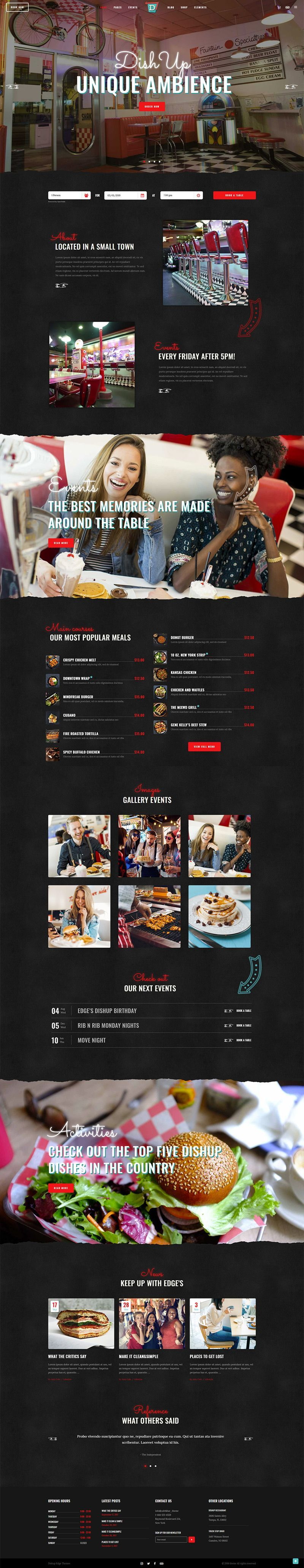 DishUp - Theme for Diners and Restaurants Fun, modern and packed with features made specifically for restaurants and food businesses, DishUp WordPress theme is all you need!