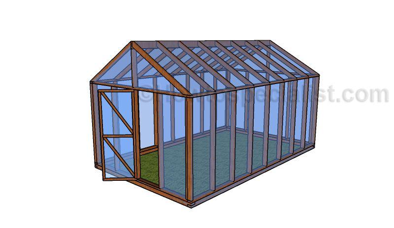 12x16 greenhouse plans foliovnk pinterest greenhouse plans 10x16 greenhouse plans small greenhousediy solutioingenieria Choice Image