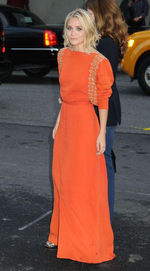 orange w/ sleeves, ashley olsen nyc