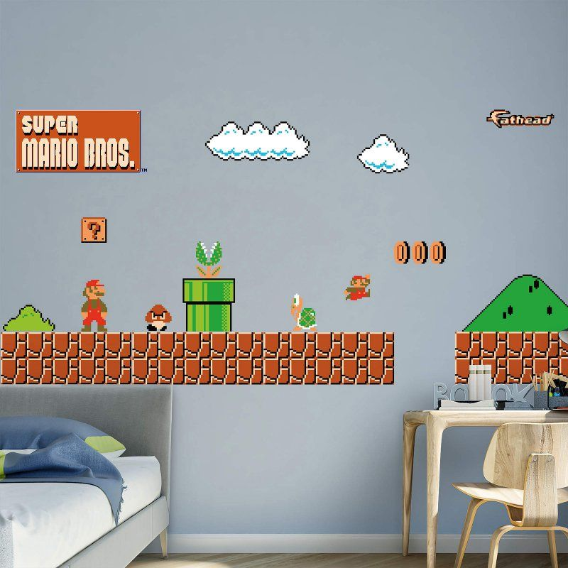Fathead Nintendo Classic Super Mario Bros. Environment Wall Decal    1089 10001