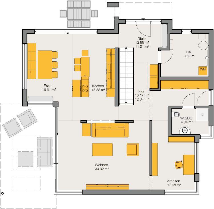 Musterhaus Valencia Grundriss Erdgeschoss (mit Bildern