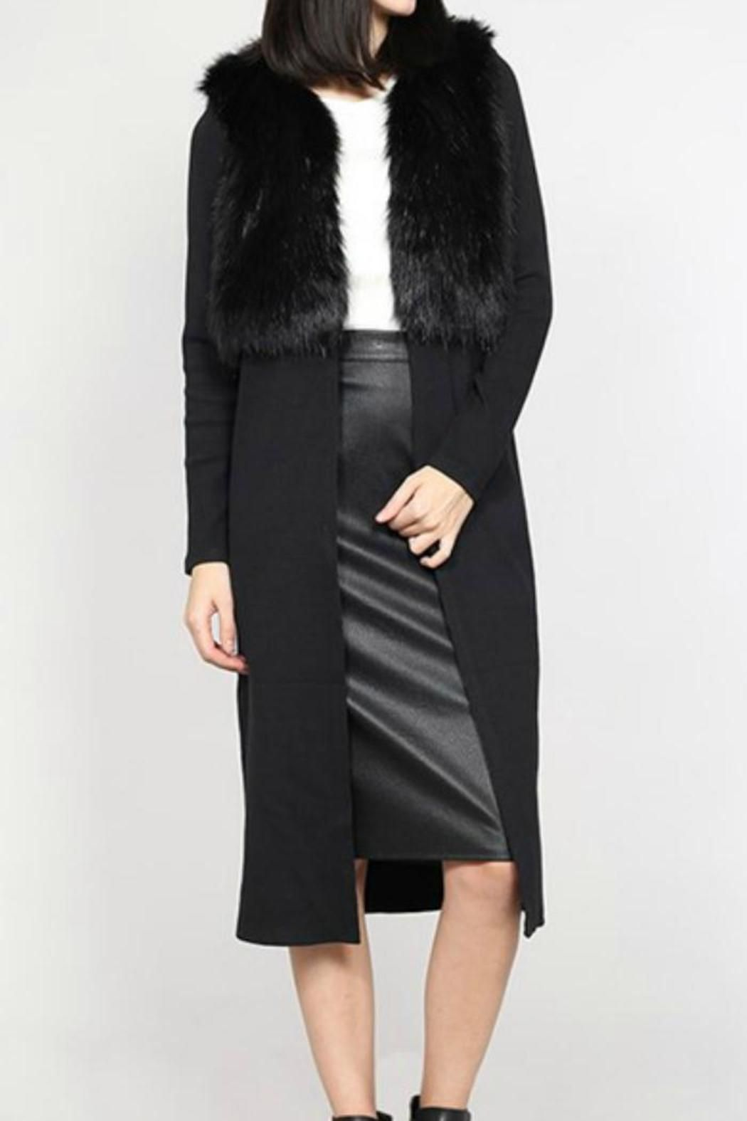 Towne Faux Fur Top Duster | Long duster, Dusters and Open cardigan