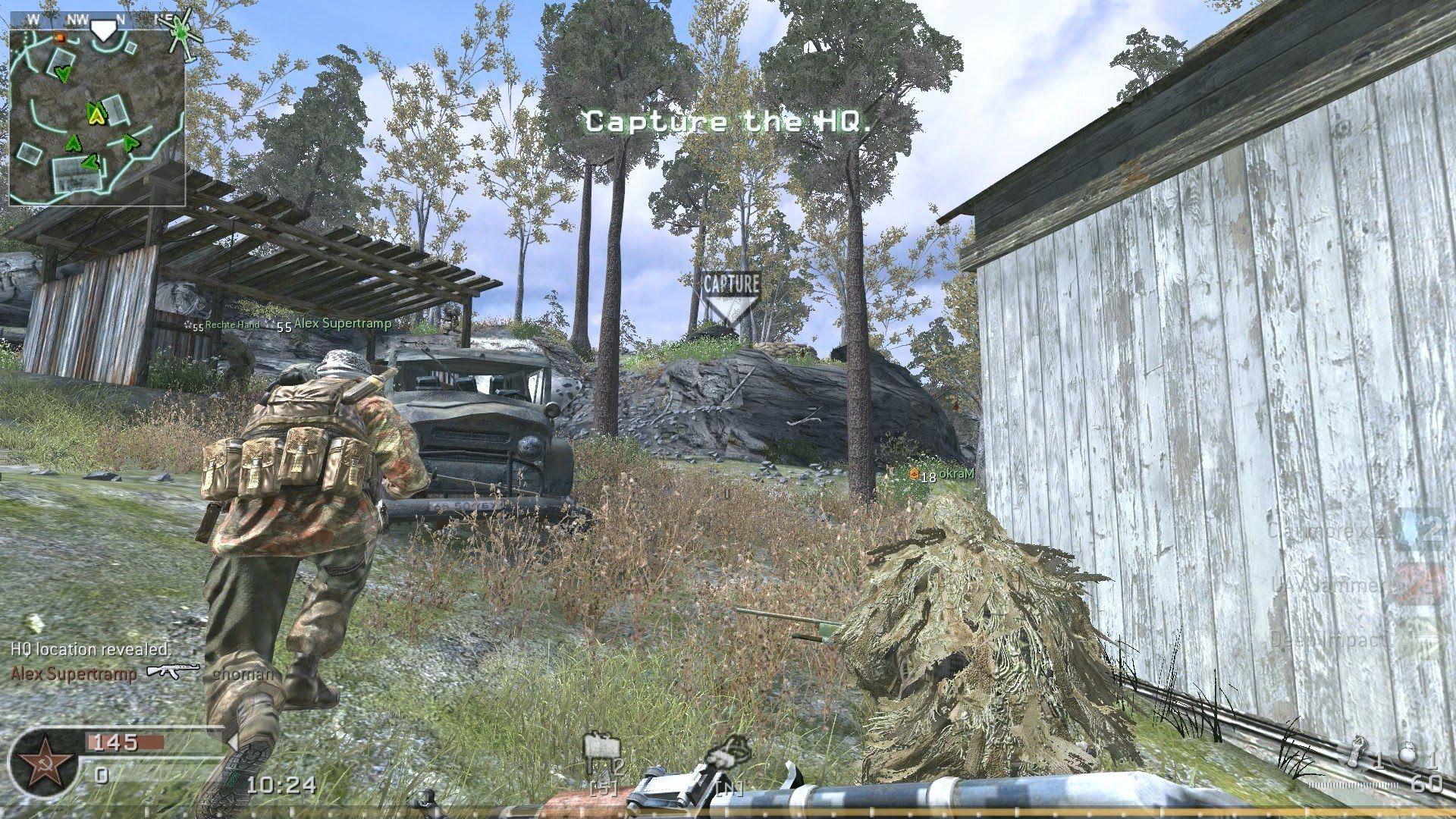 Cod4 Mw Creek Map Headquarters Hq Pc Online Multiplayer Gameplay Modern Warfare Call Of Duty Warfare