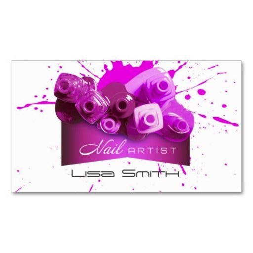 Nail Artist Business Card Zazzle Com Com Imagens Design De