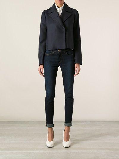 JIL SANDER NAVY - fitted jacket 7