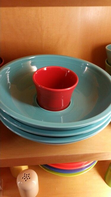 Fiestaware chip & dip bowl