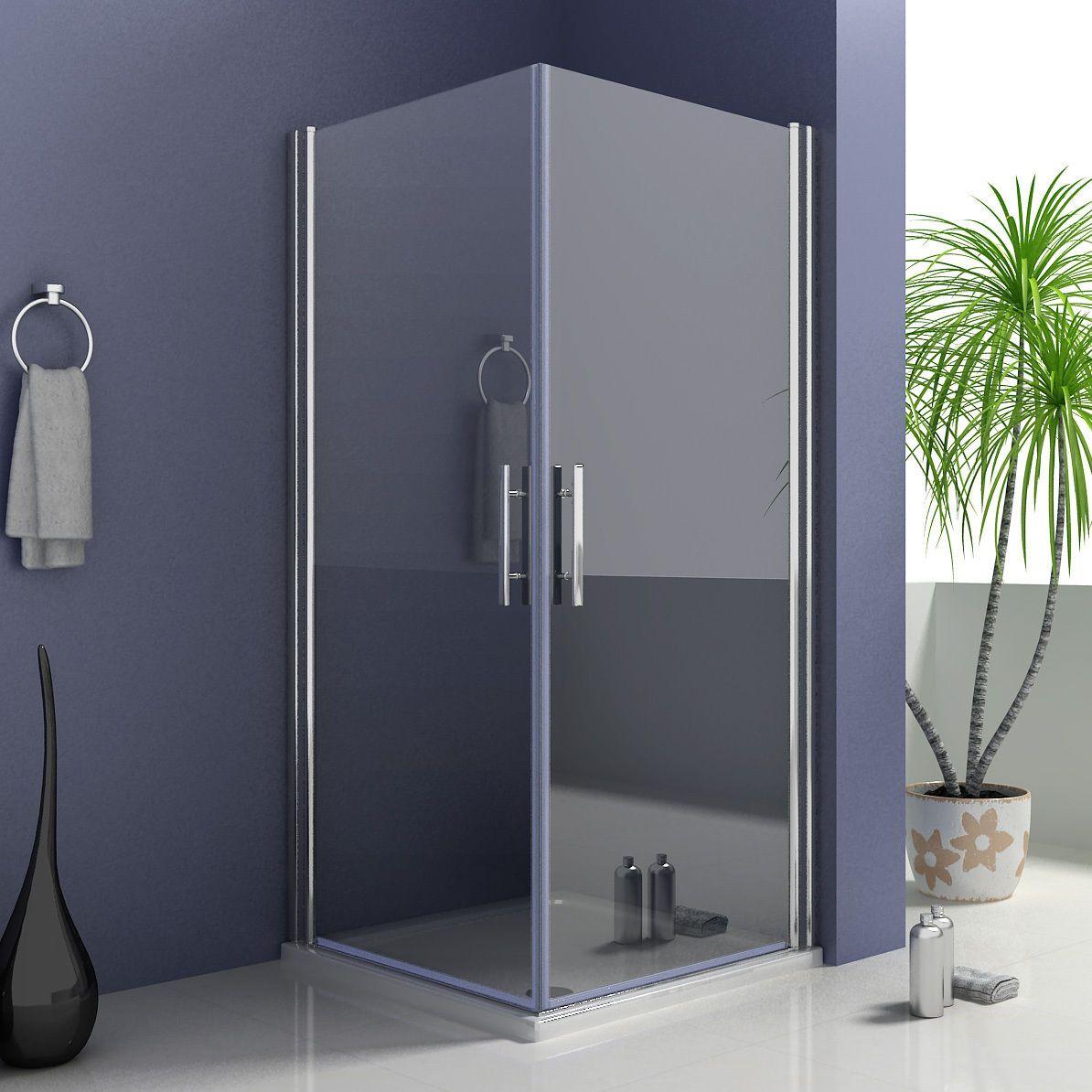 90x90x195cm Duschkabine Schwingtur Duschabtrennung Nano Glas A1
