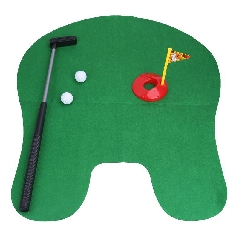 Lustige Toilette Badezimmer Mini Golf Matte Set Potty Putter Putting