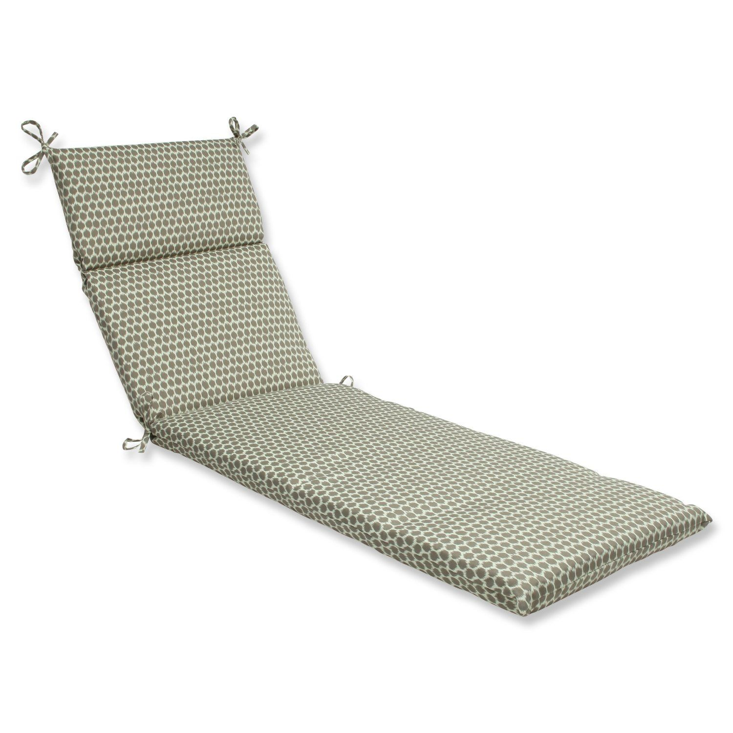 Pillow Perfect Outdoor Seeing Spots Sterling Chaise Lounge Cushi