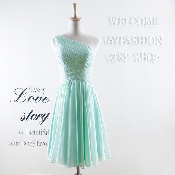 Minze grün Prom Kleider Mode kurze Brautjungfer von jayfashion ...