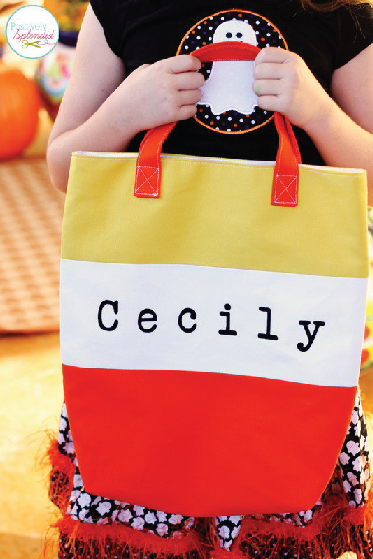Candy Corn Tote Bag Tutorial