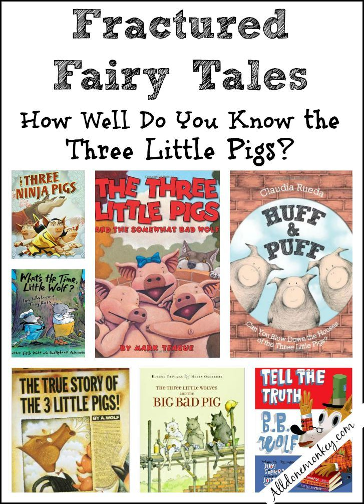 The Three Little Pigs: Fractured Fairy Tales | Book Fun | Pinterest ...