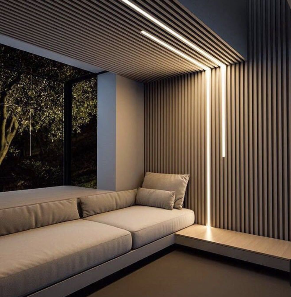 Home Decor 30 Ways Of Using Led Lights To Give Any Space A Dramatic Effect Lighting Design Interior Ceiling Design Living Room Lighting