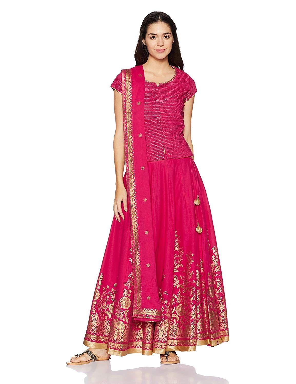 01b97f1066 BIBA Women's Lehenga Choli Price: ₹ 3,496.00 Material: Cotton ...