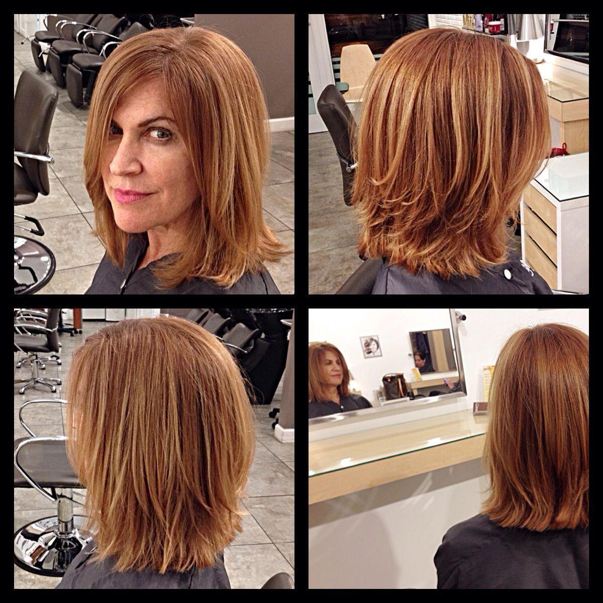 Connie's new look at Gleam Hair Studio Miami. Shoulder