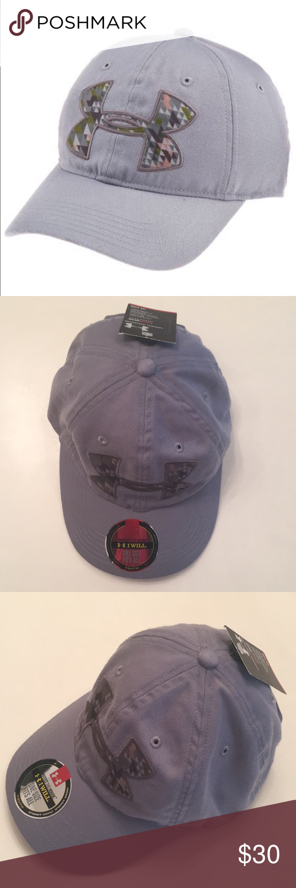 a6303a79c7f Under Armour UA Youth Cap The Under Armour Boys Big Logo Adjustable Cap  features HeatGear® sweatband to keep you cool and dry. Stretch fit delivers  ...