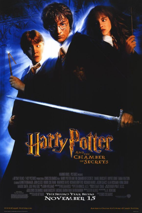 Harry Potter And The Chamber Of Secrets 11x17 Movie Poster 2002 Chamber Of Secrets Harry Potter Film Harry Potter