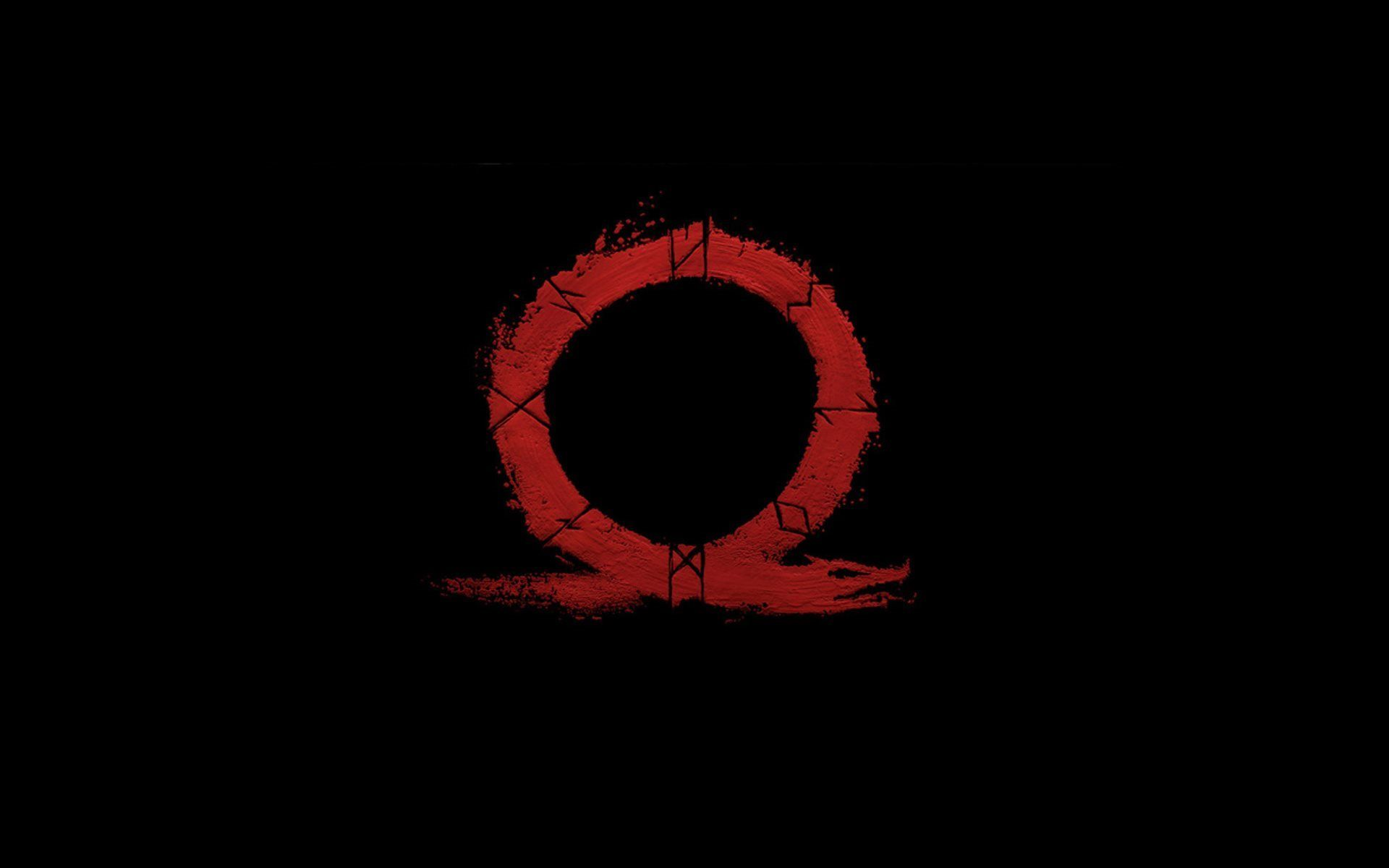 God Of War 4, New Omega, logo, black background | God of ...