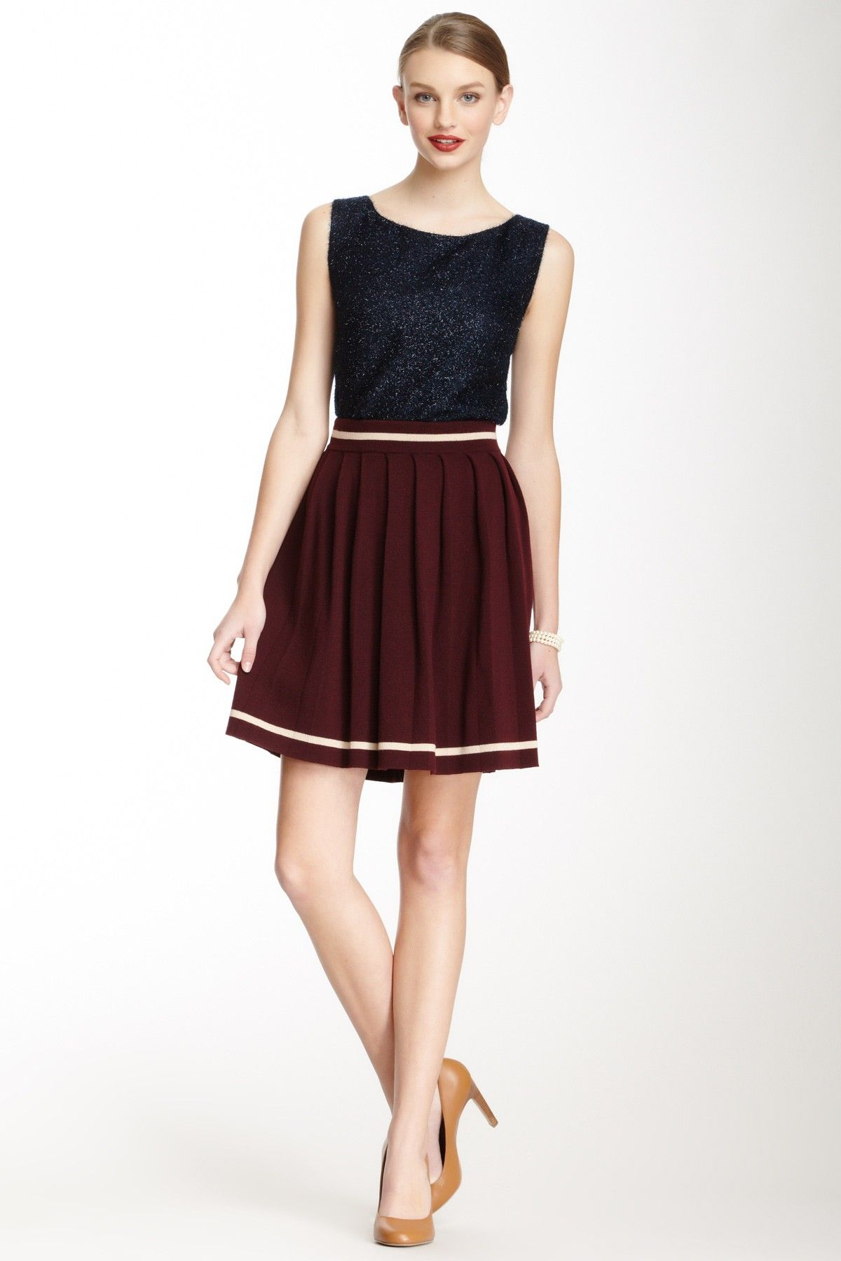 Orla Kiely Pleated Knit Wool Skirt on HauteLook