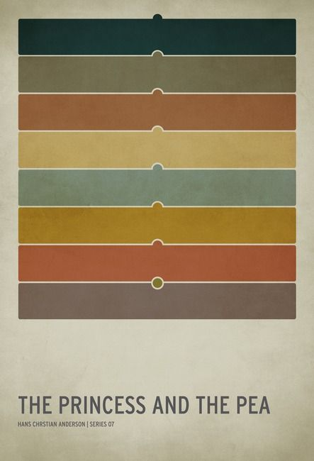 minimalist fairy tale posters - I like the color pattern