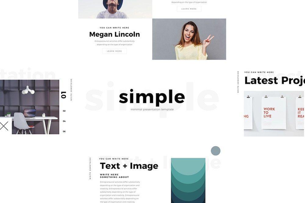 Simple | Free Minimal Keynote Template
