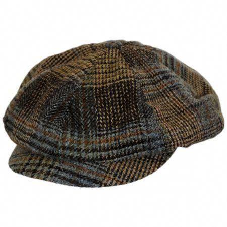 e82fe9eb558 Patchwork English Tweed Wool Big Baker Boy Cap alternate view 1  CoolHats