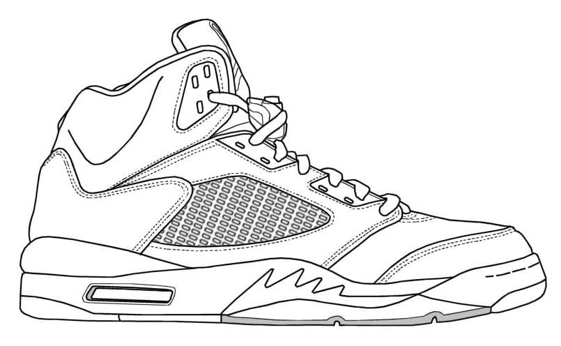 Jordan Coloring Sheets Sneakers Drawing Shoes Drawing Jordans