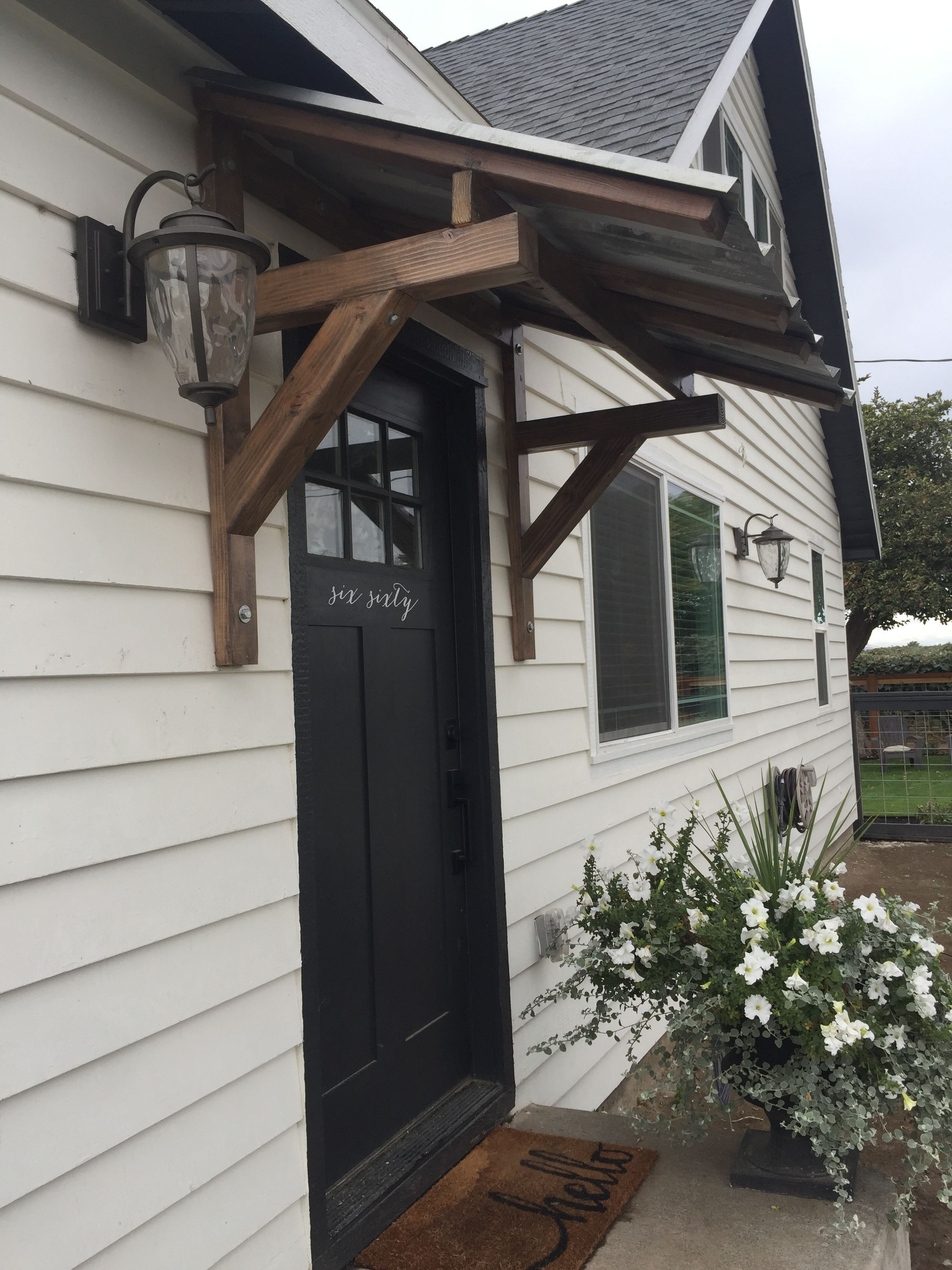 Front Porch Awning Made From Recycled Materials House Awnings Porch Awning House Exterior