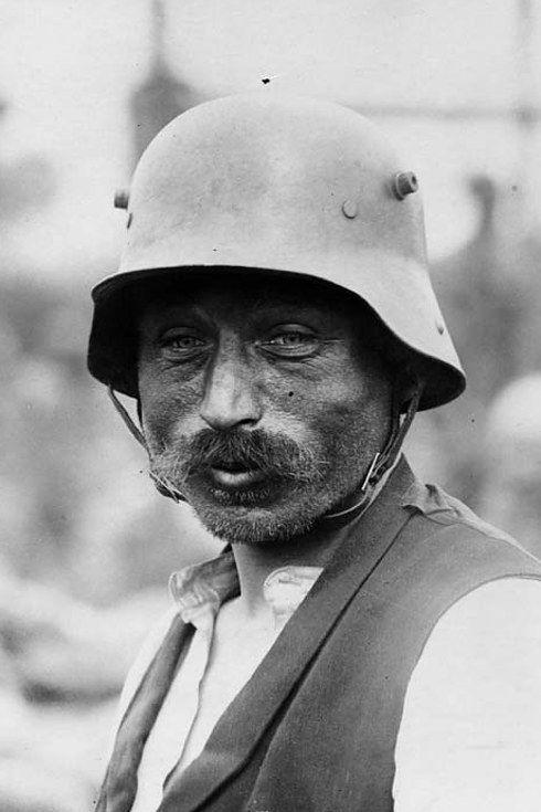 Portrait of German prisoner