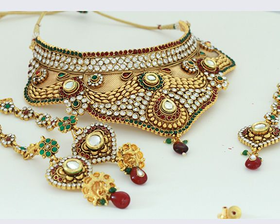 Bridal and Wedding Party Jewelry 164310: Bollywood Designer Ethnic Wedding Bridal Party Wear Fashion Jewelry Necklace Set BUY IT NOW ONLY: $49.99