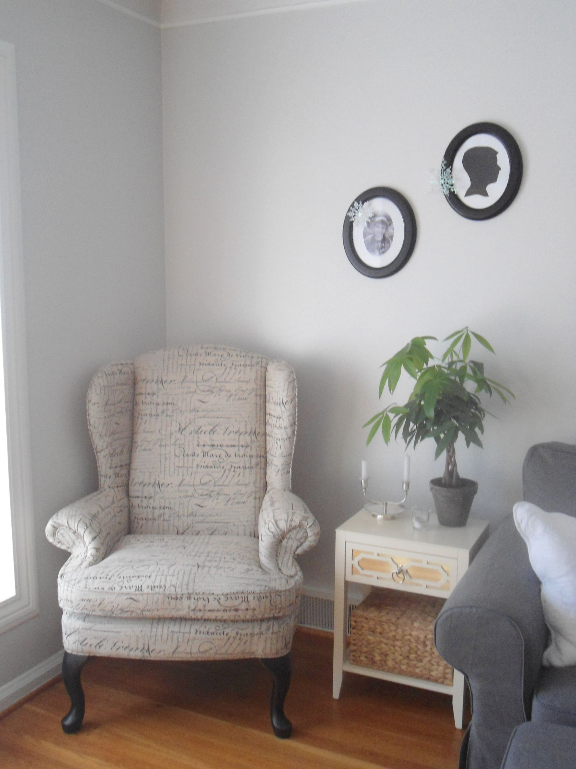 Living Room Paint Color Benjamin Moore Gray Owl Oc 52 At