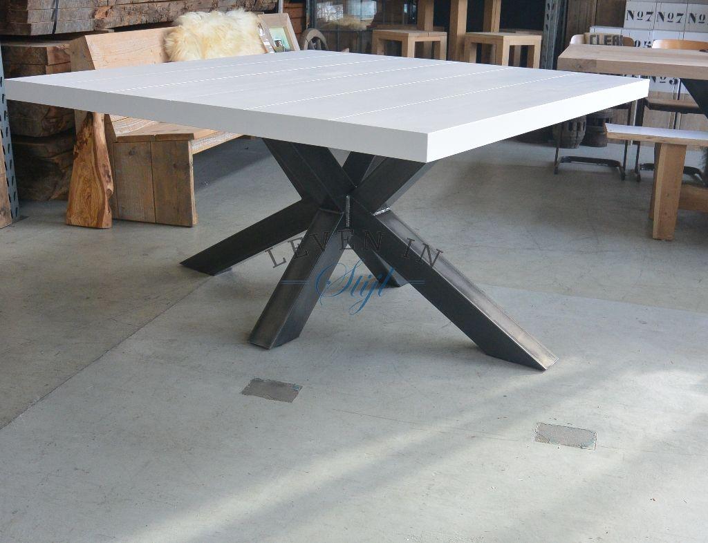 Witte Vierkante Eettafel.P Wanneer U Een Echt Unieke Witte Vierkante Tafel Zoekt Kijk