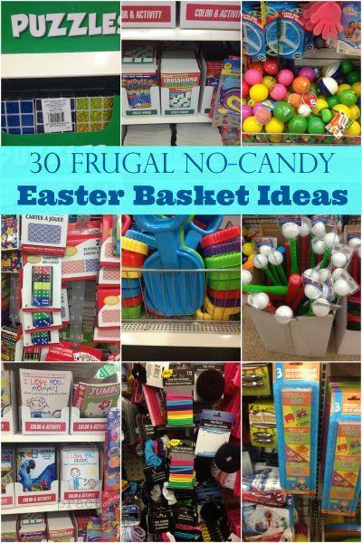 Frugal NoCandy Easter Basket Ideas Frugal NoCandy Easter Basket Ideas  30 Frugal No Candy Easter Basket Ideasgreat for last minute ideas