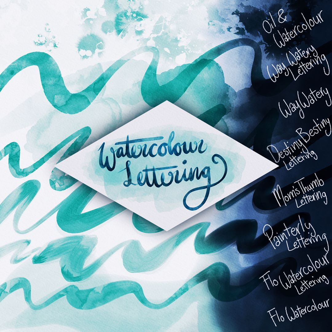 New Free Procreate Brushes For Doing Watercolour Lettering